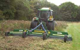 with 1000PTO Like a flail mower but requires 25% less power Jungle Buster 11046381/82 Designed for heavy duty brush and scrub cutting, this