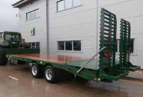 21047148/62 RRP 10,625 special offer 7,450 Flat 10T bale trailer 26, hyd brakes, 385/65R22. 21047144/58.