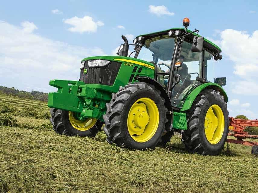 5058E Tractor More Tractor, More Comfort 2 Due April MODEL SPECIAL Meet the new 24F/12R PowrReverser transmission with a top speed of 40km/h on the 2018 John Deere 5058E 58hp 3cylinder diesel