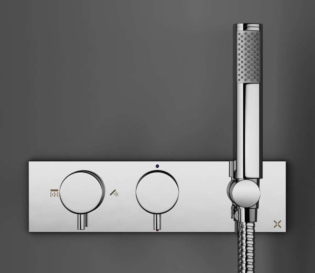 Showering 40% DESIGN THERMOSTATIC SHOWER VALVE WITH 2 WAY DIVERTER DE1500RC KAI LEVER