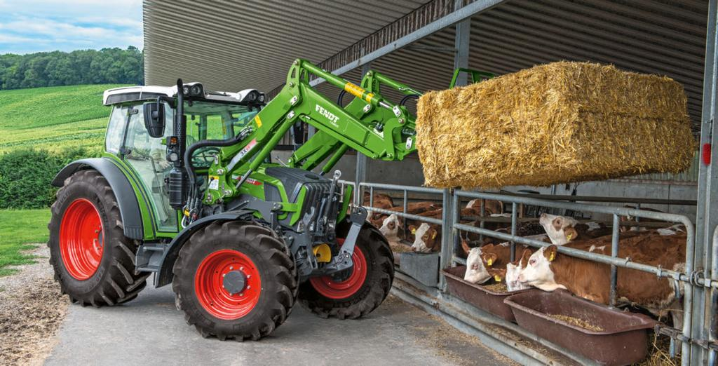 THE CARGO SWING ARM Mounting and removing made easy. The new Fendt Cargo-Lock makes mounting and removing the loader easy and fast. The multi-coupler also saves time.