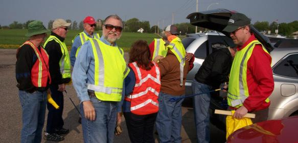 Adopt a Highway Spring Clean-up Thanks to all of you that helped at this year s Adopt A Highway spring clean-up. The weatherman cooperated and gave us a good day, which is always a plus!