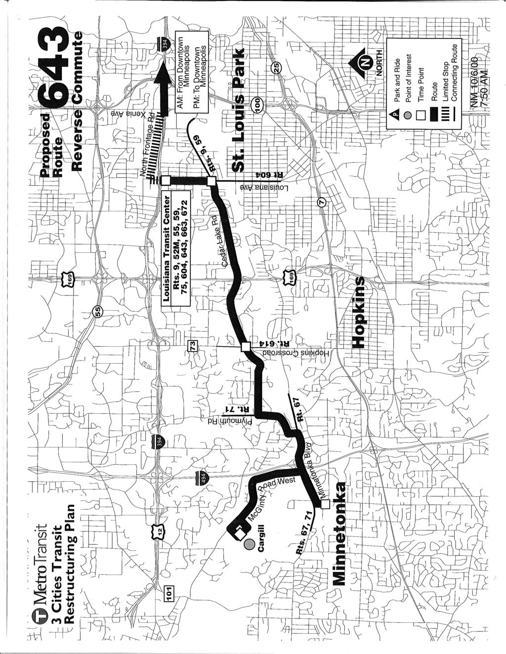 ~ jj' MetroTransit --i- 3 Cities Transit t Restructuring Plan ~ '3 J Park