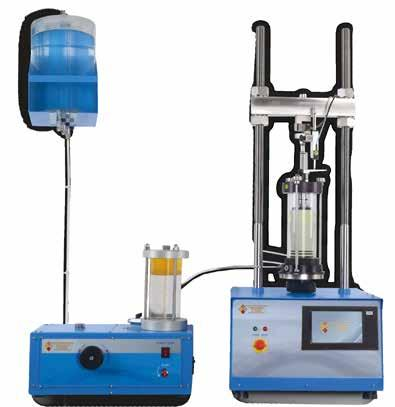 GEO TESTING EQUIPMENT Triaxial Testing Apparatus BS 1377-7,8 1924-2, ASTM D2850 D4767 AASHTO T296 T297 In a Triaxial shear test, stress is applied to a sample of the material being tested in a way,