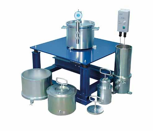 GEO TESTING EQUIPMENT Relative Density Test of Soil ASTM C31, ASTM C192, ASTM C293, AASHTO T23, AASHTO T97, ASTM D4253-14, ASTM, D4254-14 This test covers the determination of the maximum dry density