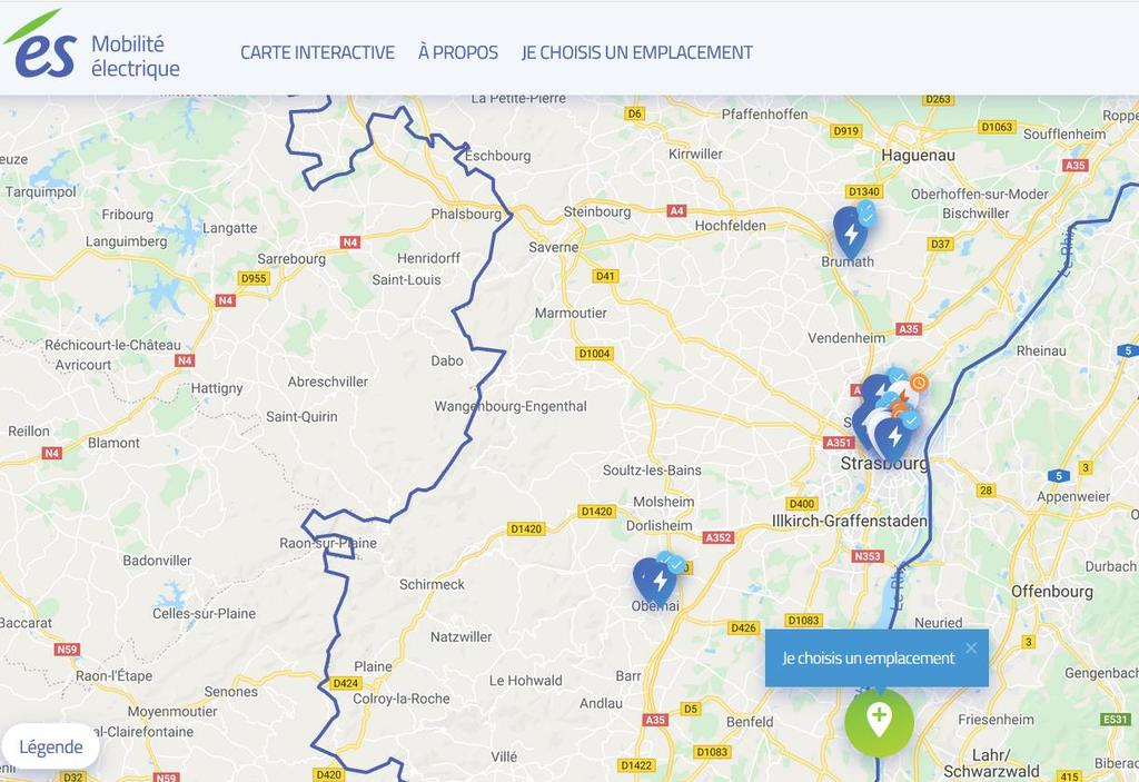 Consulting users for new E-CS locations ES Energies, the local energy provider in Strasbourg and Bas-Rhin, has launched