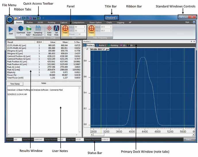 The NanoScan 2s Pro version includes ActiveX automation for users who want to integrate the NanoScan into OEM systems or create their own user interface screens with C++, LabView, Excel or other OEM