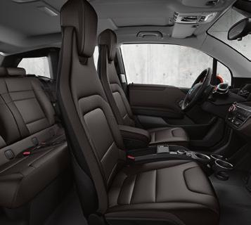 The climate active wool and naturally tanned leather upholstery is perfectly complemented by the leather instrument panel and eucalyptus wood interior trim, creating a
