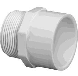 FITTINGS SCHEDULE 40 Male Adapter (Mipt x Slip) Reducer Busing (Spigot x Slip) PART SIZE BAG/ NUMBER (in) BOX 436005 1/2 10/250 436007 3/4 10/250 436010 1 10/100 436012 1-1/4 5/50 436015 1-1/2 5/50