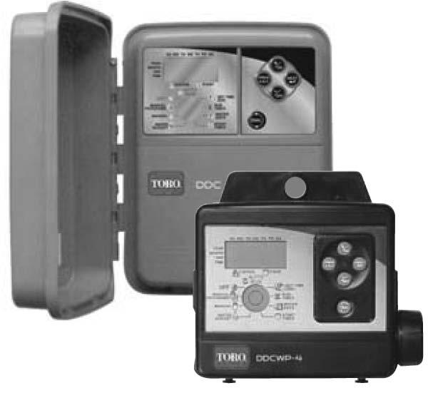 TORO CONTROLLERS DDCWP SERIES An economical battery powered controller in a waterproof case designed for a variety of landscaping applications and installation environments requiring 2 to 8 stations.
