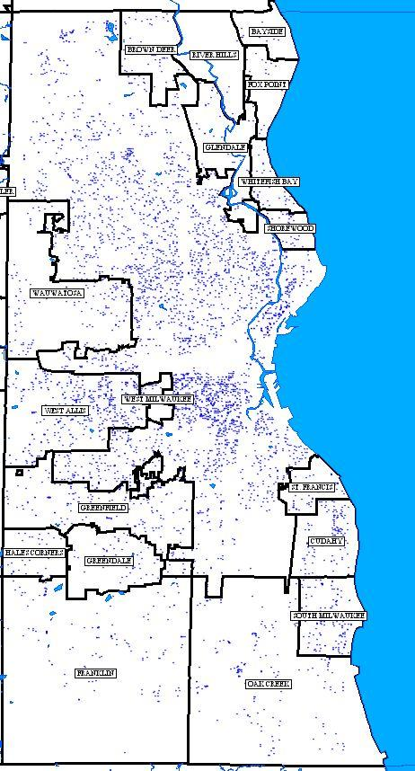 Milwaukee County residents in the Department of Transportation files, including drivers with current licenses as of January 1, 2012 plus unlicensed residents who received suspensions and from 2009