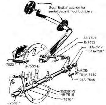 quality reproduction ford parts pdf 50 Mercury Coupe 1939 hydraulic brake clutch pedal assembly use to add hydraulic brakes to 1935 38