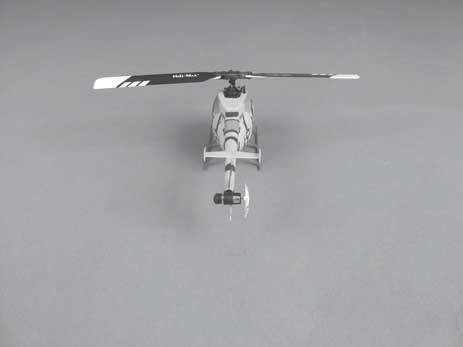 The dual rate switch provides dual control rates for the cyclic and tail rotor