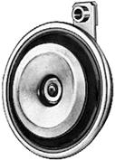Horns Disc-type-horns M 26 Galvanized metal body, black diaphragm. Sound pressure level 2 m away: 0 db(a). Power consumption: 84W.