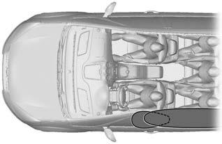 Supplementary Restraints System Note: The airbag has a lower deployment threshold than the front airbags. During a minor collision, it is possible that only the knee airbag will deploy.