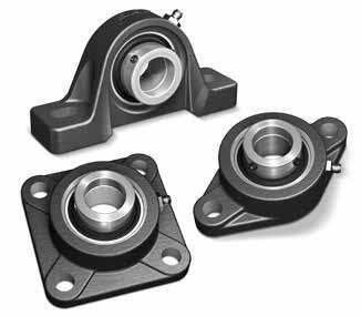 2-7//16 Shaft 6-7//8 to 7-5//8 Bolt Hole Spacing Seals with Flingers SKF P2B 207-TF Pillow Block Ball Bearing Set Screw 2-3//4 Base to Center Height 2 Bolts Normal Duty