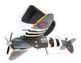 a Supermarine Spitfire D-Day, with display stand, in the original foam packed box (NMM-BVG) 60-80 Lot 2534 Lot 2536 2537 Bravo Delta Models, display model of a Spitfire MK-IXC, interesting model used