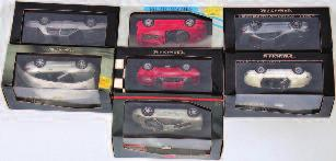 120 BMW 328, Idea 3 Ferrari 375 America and others 70-100 2617 Polistil, Pilen, Veren, Joal and Mebetoys boxed diecast group, 9 boxed examples to include Mebetoys Lamborghini Urraco, Polistil Ford