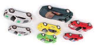 3184 Scalextric Pre Production Audi TT Loose Slot Car Group, 2 examples, originally issued in silver, but these issues are silver but decorated with Red Audi TT Liveries, never released, model number