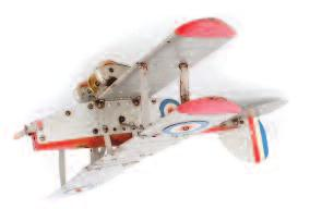 tinplate and clockwork plane, finished in orange, yellow and green camouflage, fitted with single powered propeller, collapsable wings, some wear (F) 50-70 3205 A collection of mixed boxed and loose