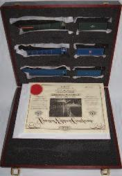Lot 1009 1009 A Bachmann presentation set of 3 class A4 engines and tenders, LNER blue, BR blue, BR green, all