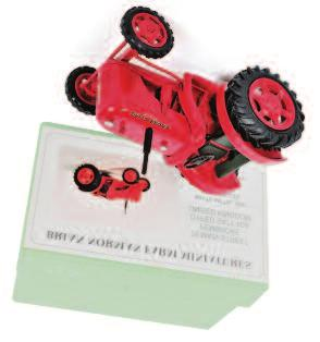 the original all card box (NMM-BM) 80-120 Lot 1204 1205 Martyns Farm Models, Suffolk, 1/32nd scale white metal and resin factory built model of a Massey Ferguson 165, finished in red, grey