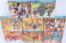 and Waterloo British Artillery 70-100 Lot 1472 1473 An Airfix H0/00 scale plastic figure group, eight boxed as issued examples to include Waterloo French Cavalry, Waterloo French Infantry, Sheriff of
