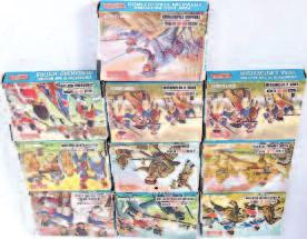 Cavalry, farm stock, Foreign Legion, Waterloo French Infantry, WWI German Infantry, and Waterloo British Artillery and others 80-120 1475 An Airfix H0/00 scale boxed figure group, eight boxed as