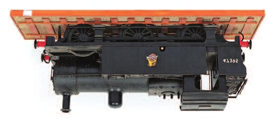 American Bo- Bo diesel switcher shunting locomotive, finished pale grey, unliveried on display base, constructed wood mainly 36 inches long x 8 inches wide x 10 inches tall, fine detail 40-70 33