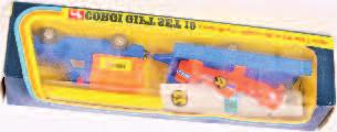 Lot 1617 1617 Corgi Toys,gift set 19, Land Rover and Nipper aircraft with trailer, comprising of blue land Rover with orange plastic canopy, with blue trailer and orange aircraft with racing number