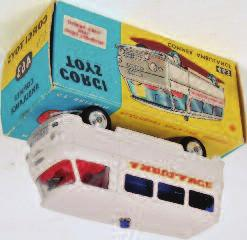 Commer Ambulance, white body with red interior and blue tinted windows, blue roof light with Ambulance to side, in the original blue and yellow all-card box, with packing piece