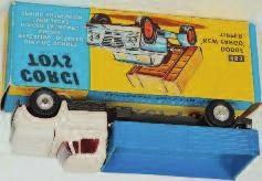 and yellow window box with header card (NMM-BVG) 120-180 1661 Corgi Toys, 483, Dodge Kew Fargo tipper, white cab, grey