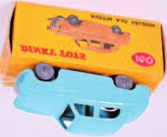saloon, turquoise, smooth grey wheels, minor graffiti on box but correct colour spot (NM-BVGNM) 60-80 1937 Dinky Toys, 187 Volkswagen
