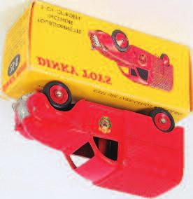 Lot 1939 1939 French Dinky Toys, No.25D Citroen 2CV Incendie Fire van, red body, concave hubs, logo decals to doors, in the original all card picture sided box (NM-BNM) 100-150 1940 Dinky Toys, No.