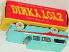 silver grille and Dunlop livery (VG) 60-80 2010 Dinky Toys, 107 Sunbeam Alpine, pale blue with cream hubs, cream