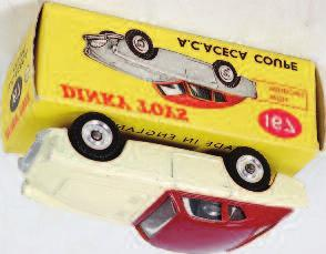 blue lower body, white roof, red interior, with spun hubs, in the original all card box (VGNM-BGVG) 40-60 2055 Dinky Toys, 133 Cunningham C- 5R Road Racer, white body