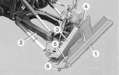 Lower the equipment carrier or the mounting for front-mounted equipment 2. Tilt the attachment plate 3.