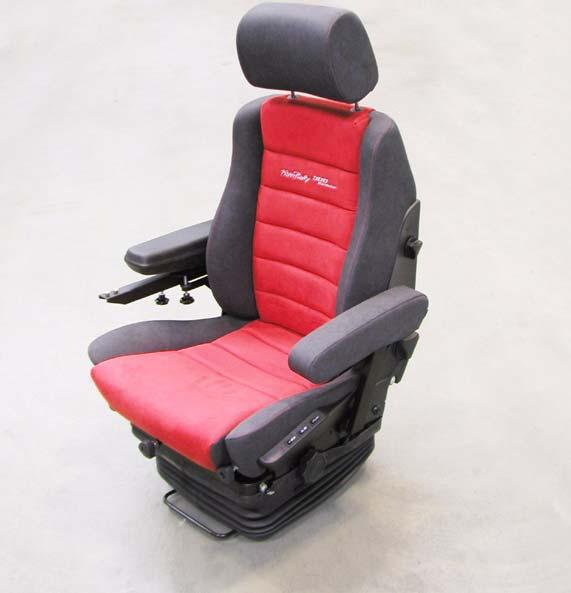 20 62 DRIVER'S SEAT Description of function: 1 SAFETY HEADREST height and angle adjustable 2 HAND WHEEL for side-section adjustment for individual adaptation 1 2 3 4 5 6 7 of the lateral control 3