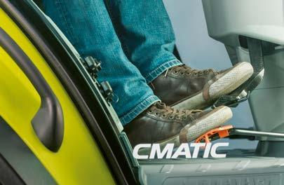 In accelerator pedal mode, the CMATIC transmission offers different ways of adapting braking to the job in hand.