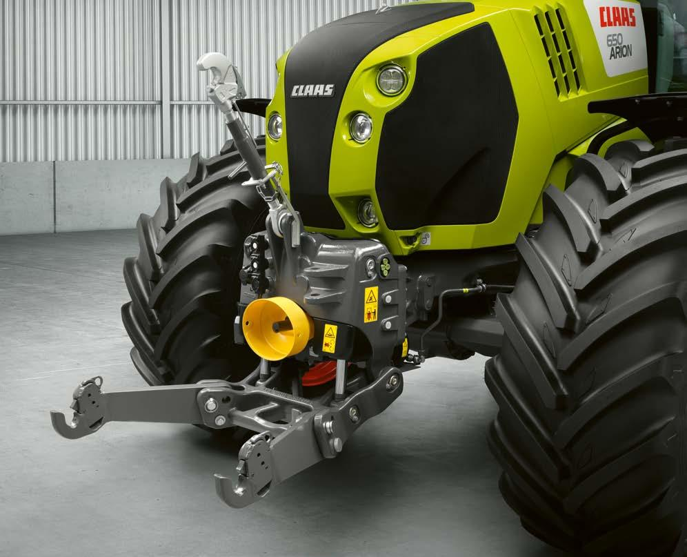 Greater versatility. More applications. Front linkage Front linkage. Precise work.