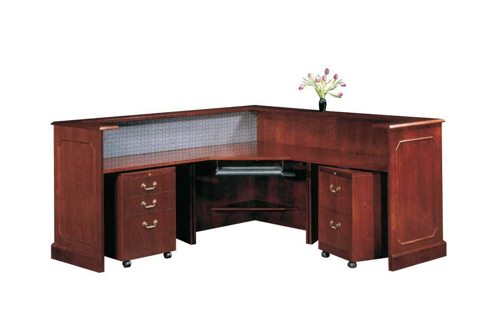 TRADITIONAL RECEPTION STATIONS Reception stations, the first impression expressed to visitors in your office.