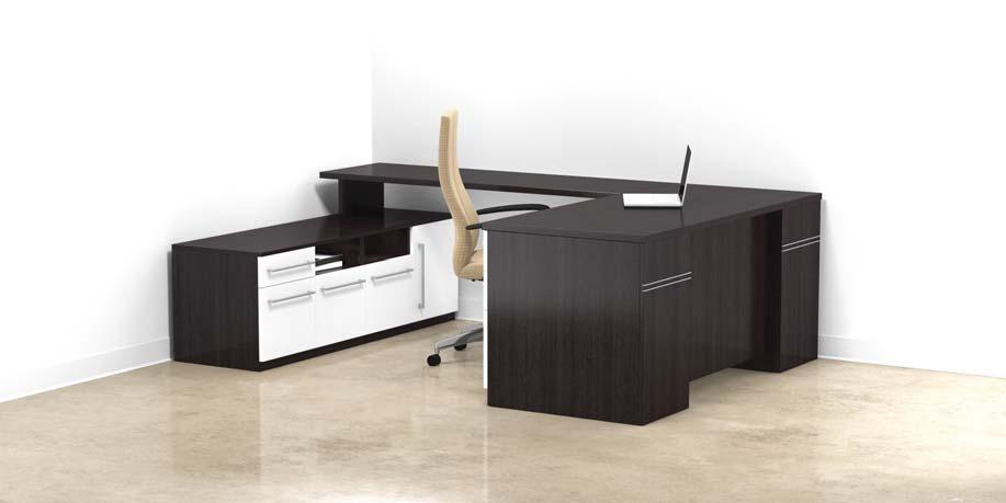 CONNECTION SERIES Options Available HPL Matching high pressure laminate substituted for wood top $ N/C - Call customer service for matching finish selections CD Center Drawer $ FF Change BBF pedestal