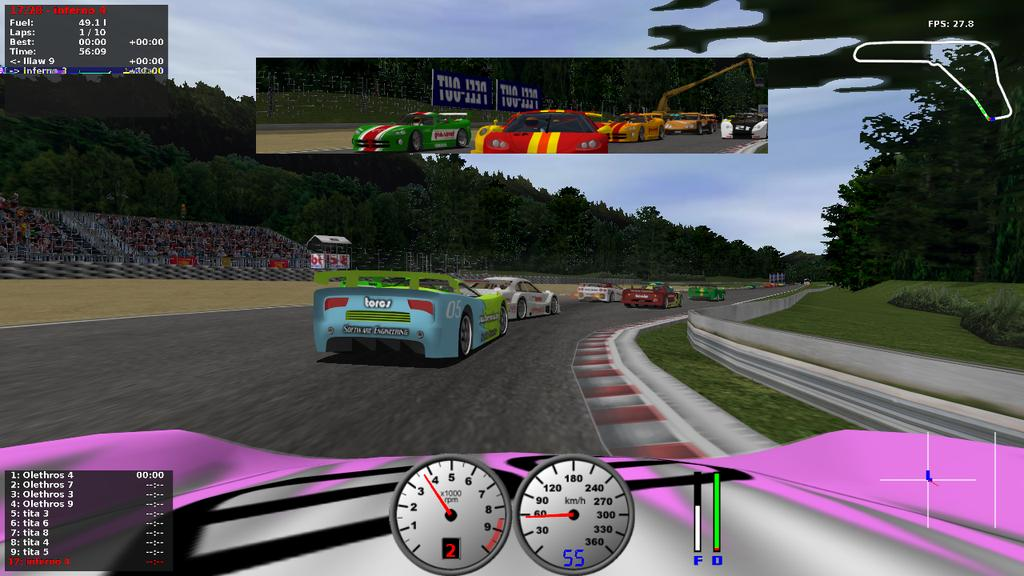 Figure 4: TORCS - The Open Racing Car Simulator other. 7.6.6 Licensing The project has been released under the GPL License, which enables free use, modification, and redistribution. 7.6.7 Autonomous driving There are some implementations of autonomous driving using the project, such as [4] and [8].
