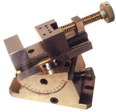 GRINDER & ACCESSORIES GROMAX Sine Vise Compound angles easily and quickly set.; Adjustments up to 46 degrees. The vise parallel precision 0.0002 and vertical angles in 0.