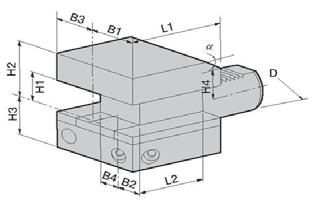 CB1/CB2: Axial/Radial Toolholder Right/Left-Hand CB3/CB4: Axial/Radial Toolholder Right/Left-Hand Dimension