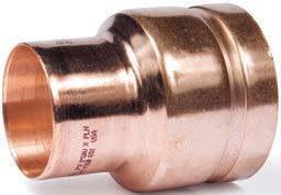 COPPR SYSMS Figures 650 Concentric Reducer ech Data Sheet: G520 Figures 652 Concentric Reducer ech Data Sheet: G520 to to Cup Size Pipe Size Copper ubing to pprox. lbs 2 1 2 x 2 2.625 x 2.125 3.29 1.