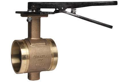 COPPR SYSMS Model B680 Butterfly Valve with Lever Handle ech Data Sheet: G530 he GRINNLL Model B680 is a lever handle bronze body butterfly valve designed for use with grooved copper tubing (CS),
