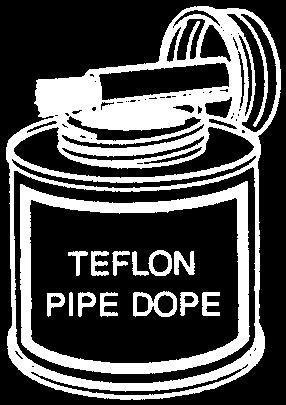 LUBRICANTS / REPAIR KITS TEFLON PASTE (PIPE DOPE) TT-319 TEFLON PASTE (PIPE DOPE) 1/2 Pint WIth Brush Top COMBINATION TEFLON / SILICONE LUBRICANT The LUB-986 lubricates and