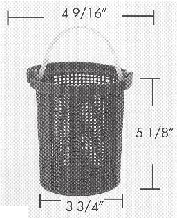 BASKETS / FILTER BAGS / PUMP COVERS BA-680 BASKET TO FIT STA RITE DURAGLAS AND MAXIGLAS PUMPS Replaces: C108-33P This