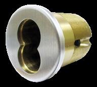 Specify thickness if other than 1 ¾ Deadbolt: 1 ( 25 mm ) throw, stainless steel, can withstand cutting or sawing Cylinder: 1 ⅛ Mortise cylinder Schlage C (standard).